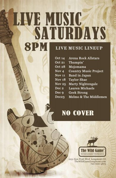 TWGLO Saturday Live Music Lineup